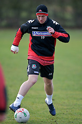 CHESTER, ENGLAND - Monday, February 4, 2008: Wales' Freddy Eastwood during training at the Carden Park Hotel ahead of their friendly match against Norway. (Photo by David Rawcliffe/Propaganda)