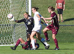 Boston College Eagles goalkeeper Jillian Mastroianni (30) makes a second half save against UVA.  The #9 ranked Virginia Cavaliers defeated the #13 ranked Boston College Eagles 2-1 in NCAA women's soccer at Klockner Stadium on the Grounds of the University of Virginia in Charlottesville, VA on October 19, 2008.