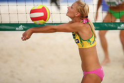 Martina Jakob (HIT Holidays Team) at qualifications for 14th National Championship of Slovenia in Beach Volleyball and also 4th tournament of series TUSMOBIL LG presented by Nestea, on July 25, 2008, in Kranj, Slovenija. (Photo by Vid Ponikvar / Sportal Images)/ Sportida)