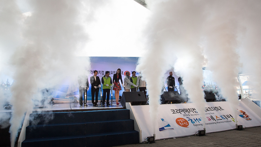VIPs on stage officially open the Korea Match Cup 2013. Gyeonggi Province, Korea. 29 May 2013 Photo: Subzero Images/AWMRT