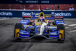 March 10, 2017 - St Petersburg, FLORIDA, UNITED STATES OF AMERICA - 98 ALEXANDER ROSSI (USA) ANDRETTI HERTA AUTOSPORT W/CURB-AGAJANIAN (USA) HONDA (Credit Image: © Panoramic via ZUMA Press)