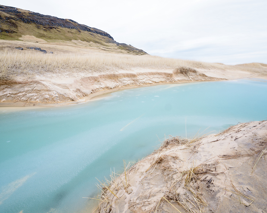 Meltwater in dune slacks, Iceland