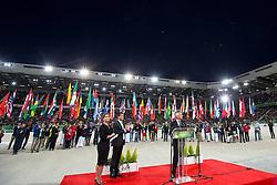 HRH Princess Haya bint Al Hussein, Valls Manuel Carlos  - Prime Minister of France, Beauvais Laurent (FRA) - président du conseil régional, Opening Ceremony, <br /> Alltech FEI World Equestrian Games™ 2014 - Normandy, France.<br /> © Hippo Foto Team - Leanjo de Koster<br /> 25/06/14