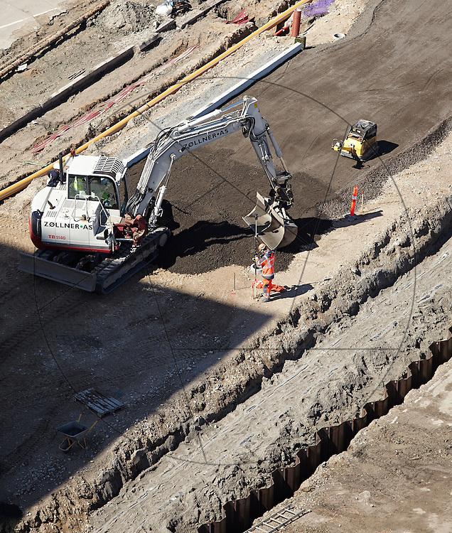 DLG-siloen Nordhavn, Unionkul, ombygning af kornsilo til luksuslejligheder, Klaus Kastbjerg, By & Havns udstillingslokaler under renovering, planering, gravemaskine, gravko,