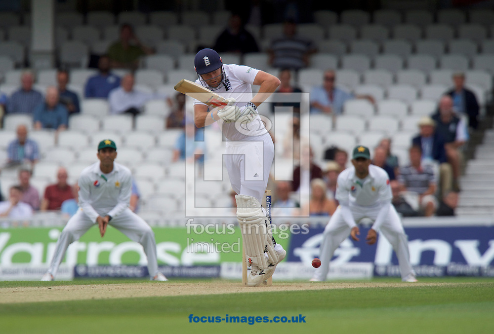 Jonny Bairstow of England hits a four during Day Four of the fourth Investec Test Match at the Kia Oval, London<br /> Picture by Alan Stanford/Focus Images Ltd +44 7915 056117<br /> 14/08/2016