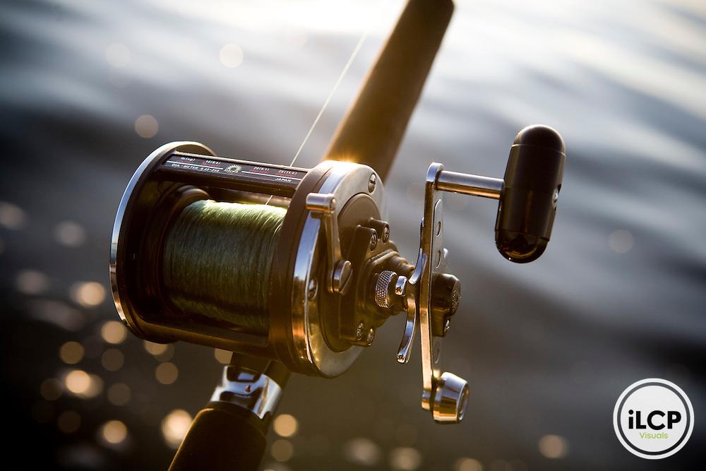 Bait fishing on Lake Canandaigua, NY