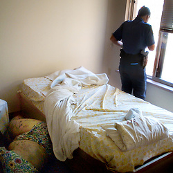 Portland Police Officer, Sarah Taylor, takes a break after discovering the body of a 66 year old woman, who lay deceased in an apartment six days before being discovered. The women had no relatives, and the death was only discovered after neighbors complained about the smell. Officer Taylor said that even though policing is difficult emotionally at times, she loves her job and that she lives to go home and cook a dinner for her family, forgetting about even the worst things she encounters on her beat.