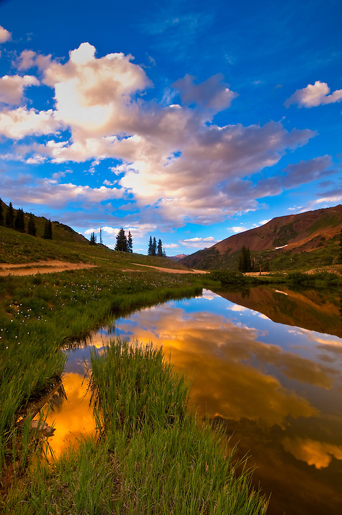 A pond on Paradise Divide (at 11,500 feet), near Crested Butte, Colorado USA