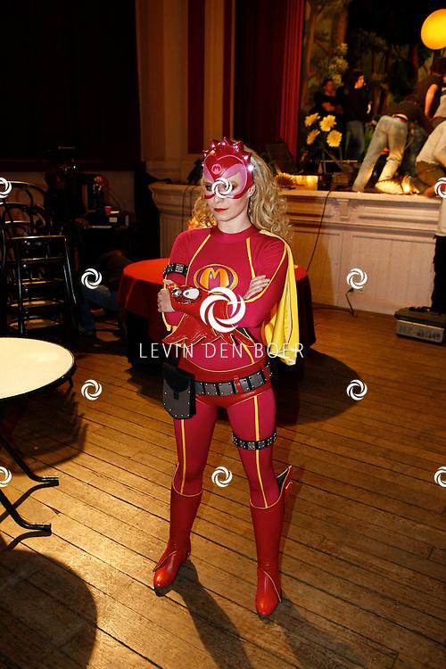 TONGEREN BELGIE - In het oude Casino waren de filmopnames van Mega Mindy en het Zwarte Kristal.  Met op de foto Free Souffriau alias Mega Mindy. FOTO LEVIN DEN BOER - PERSFOTO.NU