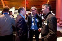 UTRECHT -  ,Maurice Hermans (r)  A tribe called Golf, de kracht van de connectie. Nationaal Golf Congres van de NVG 2014 , Nederlandse Vereniging Golfbranche. COPYRIGHT KOEN SUYK