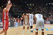 Milano 20 Dicembre  2015<br /> Serie A Lega Beko<br /> Olimpia EA7 Emporio Armani Milano vs Enel Brindisi<br /> Nella Foto Enel Brindisi delusione<br /> Foto Ciamillo<br /> Provvisorio