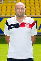 Lokeren's head coach Bob Peeters poses during the 2015-2016 season photo shoot of Belgian first league soccer team Lokeren, Monday 06 July 2015 in Lokeren.