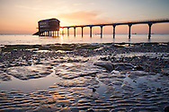 Bembridge lifeboat station on the Isle of Wight at sunrise