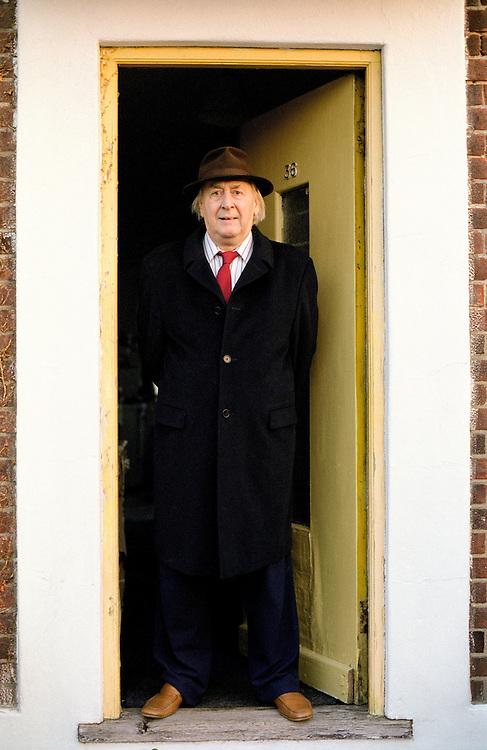 The author, JG Ballard, in his home. Shepperton, UK. 2004