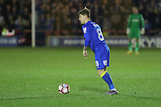 AFC Wimbledon midfielder Jake Reeves (8) during the The Emirates FA Cup 1st Round Replay match between AFC Wimbledon and Bury at the Cherry Red Records Stadium, Kingston, England on 15 November 2016. Photo by Stuart Butcher.