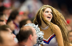 Cheerleaders during Ice Hockey match between Slovakia and Norway at Day 6 in Group B of 2015 IIHF World Championship, on May 6, 2015 in CEZ Arena, Ostrava, Czech Republic. Photo by Vid Ponikvar / Sportida