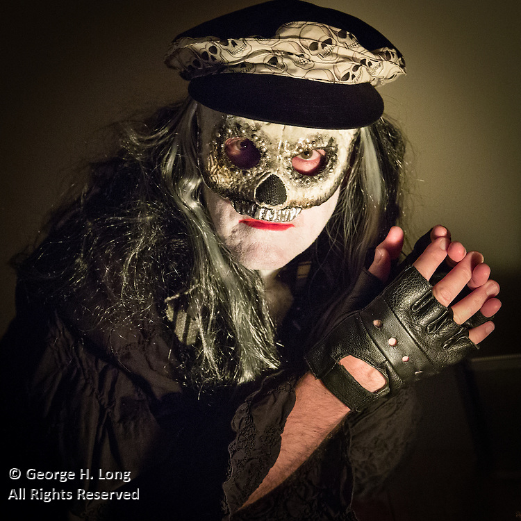 George Long at Halloween Ball at Wonderland, home of Stacy Hoover, in the Bywater neighborhood; October 29, 2015