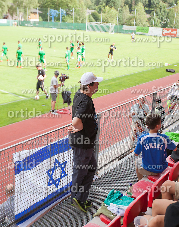 26.07.2014, Steinbergstadion, Leogang, AUT, Testspiel, Maccabi Haifa vs SC Paderborn, im Bild Israelische Flagge // Israeli Flag during a Friendly Match between Maccabi Haifa and SC Paderborn at the Steinbergstadium, Leogang, Austria on 2014/07/26. EXPA Pictures © 2014, PhotoCredit: EXPA/ JFK