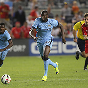 Yaya Touré, Manchester City, in action during the Manchester City Vs Liverpool FC Guinness International Champions Cup match at Yankee Stadium, The Bronx, New York, USA. 30th July 2014. Photo Tim Clayton