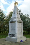 The Essesx Regiment Memorial at the National Memorial Arboretum, Croxall Road, Alrewas, Burton-On-Trent,  Staffordshire, on 29 October 2018. Picture by Mick Haynes.