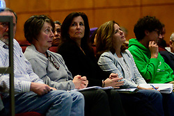 Community is provided with updates on the regional water contamination crisis from representatives from the State's PFAS Action Team during a meeting in Abington, Pa, on April 15, 2019. (Bastiaan Slabbers for WHYY)