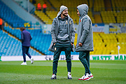 Leeds United midfielder Mateusz Klich (43) and Leeds United forward Helder Costa (17) chat after arriving at the ground during the EFL Sky Bet Championship match between Leeds United and Blackburn Rovers at Elland Road, Leeds, England on 9 November 2019.