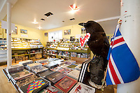 Hljómplötubúðin 12 tónar, Skólavörðustíg 15. 12 Tónar Record Store at Skolavordustigur 15, Reykjavik.