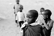 Ngare Sero, TANZANIA. August 11th 2009..Maasai kids.