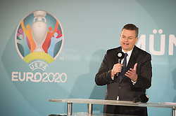 Reinhard Grindel bei der UEFA Euro 2020 Logo Pr‰sentation f¸r die Spiele in M¸nchen / 271016<br /> <br /> ***Presentation of the Logo for the Munich games at the UEFA EURO 2020, October 27th, 2016***