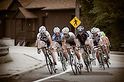 Cyclists round the turn at Alcyon Lake during the 50 mile 1st Annual Bob Riccio Memorial Tour de Pitman race.