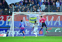 But Claudio BEAUVUE - 25.04.2015 - Caen / Guingamp - 34eme journee de Ligue 1<br /> Photo : David Winter / Icon Sport