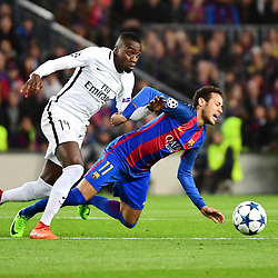 (L-R) Blaise Matuidi of PSG and Neymar Jr of Barcelona during the Uefa Champions League Round of 16 second leg match between FC Barcelona and Paris Saint Germain at Camp Nou on March 8, 2017 in Barcelona, Spain. (Photo by Dave Winter/Icon Sport)