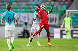 Miha Mevlja of Slovenia vs Alfred Effiong of Malta during football match between National teams of Slovenia and Malta in Round #6 of FIFA World Cup Russia 2018 qualifications in Group F, on June 10, 2017 in SRC Stozice, Ljubljana, Slovenia. Photo by Vid Ponikvar / Sportida