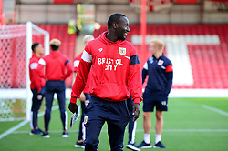 Famara Diedhiou of Bristol City looks around Griffin Park after arriving for the game against Brentford - Mandatory by-line: Dougie Allward/JMP - 15/08/2017 - FOOTBALL - Griffin Park - Brentford, England - Brentford v Bristol City - Sky Bet Championship