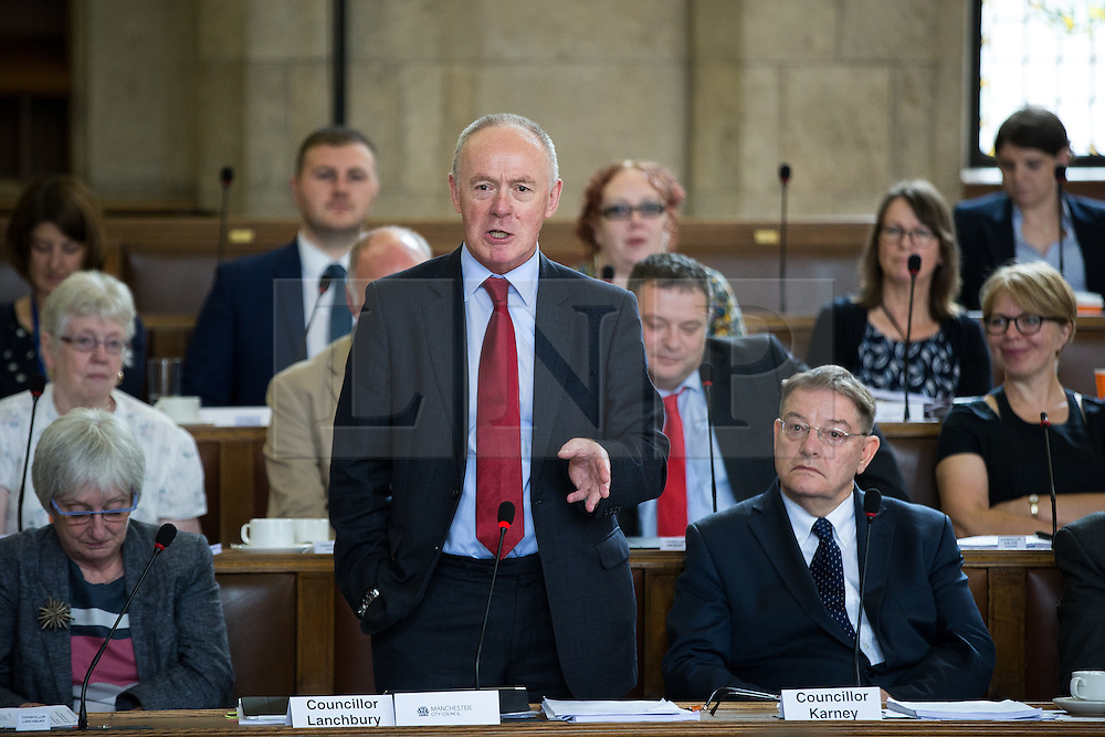 © Licensed to London News Pictures . 13/07/2016. Manchester , UK . SIR RICHARD LEESE speaks . Proceedings at a Manchester City Council meeting , at the Town Hall in Manchester . Photo credit: Joel Goodman/LNP