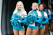 Jacksonville Jaguars Cheerleaders in the tunnel  before the start of the game  during the International Series match between Jacksonville Jaguars and Houston Texans at Wembley Stadium, London, England on 3 November 2019.