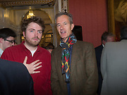 GEOFF DYER, Literary Review Christmas drinks and  Bad Sex in fiction Awards, In and Out club. St. James's Sq. London. 30 November 2017
