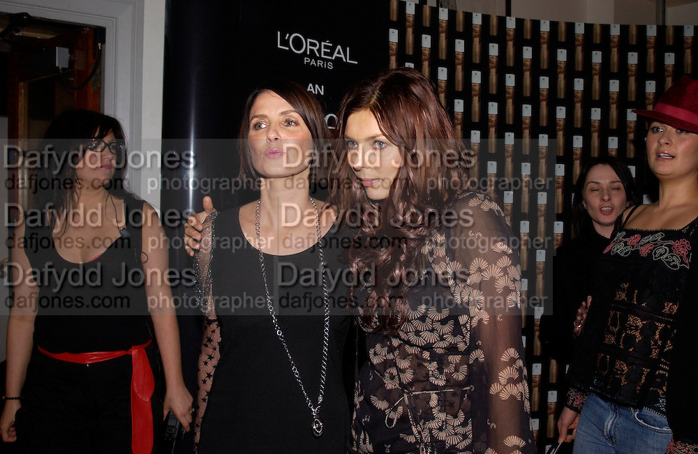 Sadie Frost and Jemima French, Frost French  screening, Bafta, 16 February 2003.© Copyright Photograph by Dafydd Jones 66 Stockwell Park Rd. London SW9 0DA Tel 020 7733 0108 www.dafjones.com