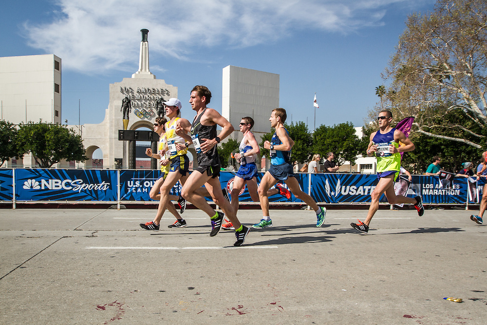 USA Olympic Team Trials Marathon 2016, BAA, Harvey, Fischer, Vassallo, LA Coliseum