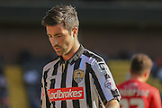 Notts County defender Alan Sheehan during the Sky Bet League 2 match between Notts County and York City at Meadow Lane, Nottingham, England on 26 September 2015. Photo by Simon Davies.