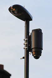&copy; Licensed to London News Pictures.06/04/2018<br /> HITHER GREEN, UK.<br /> NEW CCTV IN THE ROAD.<br /> METAL SECURITY GRIILS BEING FITTED TO RICHARD OSBORN- BROOKS HOME THIS EVENING. <br /> DAY 3. Hither Green Burglary Murder. South Park Crescent,Hither Green.<br /> Police outside the home of 78 year old Richard Osborn-Brooks who has been bailed for stabbing a burglar to death in his home.<br /> Photo credit: Grant Falvey/LNP