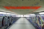 underpass with graffiti