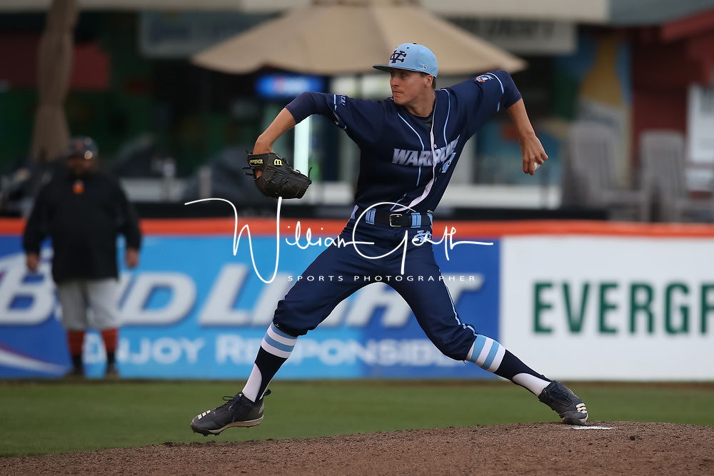 Los Gatos vs Valley Christian in the 2018 CCS Open Division Baseball Championship at San Jose Municipal Stadium, San Jose CA on 5/25/18. (Photograph by Bill Gerth) (Valley Christian 4 Los Gatos 3) A heart-pounding, tension-packed seventh inning ended Friday night with Coleman Brigman crossing home plate with the decisive run after Steven Zobac took a pitch to the thigh.<br /> <br /> Anticlimactic, perhaps, but certainly not for the winners.<br /> <br /> Valley Christian repeated as Central Coast Section Open Division champion, beating Los Gatos 4-3 at Municipal Stadium in a game that will be remembered for the incredible at-bats by Los Gatos in the top half of the seventh that erased a two-run deficit and the bounce-back in the bottom half of the inning by the area&rsquo;s top team all season.