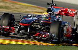 Motorsports / Formula 1: World Championship 2011, Test Valencia, Lewis Hamilton (GBR, Vodafone McLaren Mercedes)