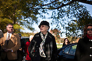 Sharon Frizzell is surround by family and friends as they arrive at Arlington National Cemetery to lay her husband, Bill Frizzell, to rest on November 8th, 2010.