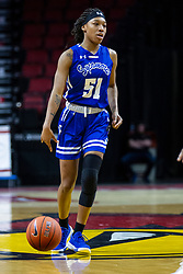 NORMAL, IL - January 03: Del'Janae Williams during a college women's basketball game between the ISU Redbirds and the Sycamores of Indiana State January 03 2020 at Redbird Arena in Normal, IL. (Photo by Alan Look)
