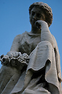 A statue at the Congressional Cemetery.