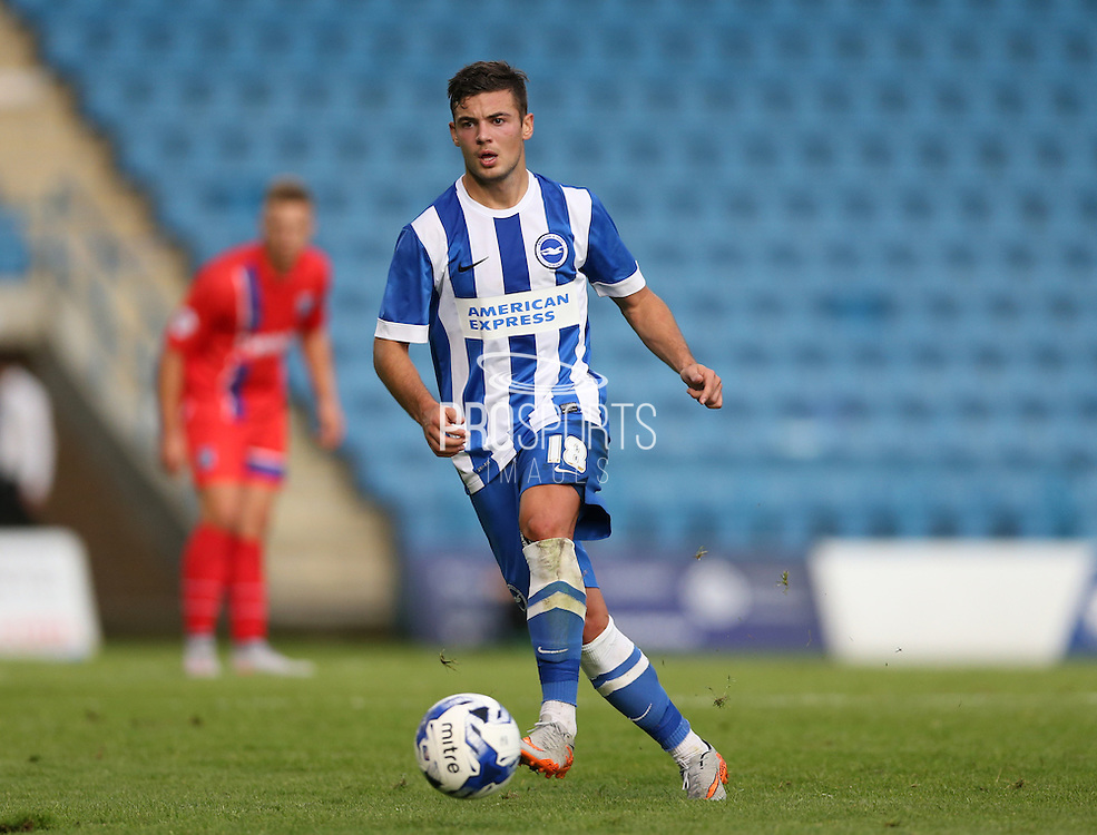 Jake Forster-Caskey during the Pre-Season Friendly match between Gillingham and Brighton and Hove Albion at the MEMS Priestfield Stadium, Gillingham, England on 29 July 2015.