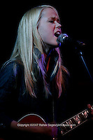 Tina Dico performing at Joe's Pub on June 18, 2007