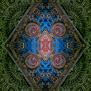 Computer abstract of altered and enhancement of Cunard Building as digital computer art.<br /> <br /> Two or more layers were used to enhance, alter, manipulate the image, creating an abstract surrealistic mirrored symmetry.